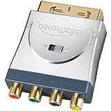 Clicktronic HC 007 Scart Adapter (3x Cinch (RGB) mit 1x Cinch Video, vergoldete Kontakte)