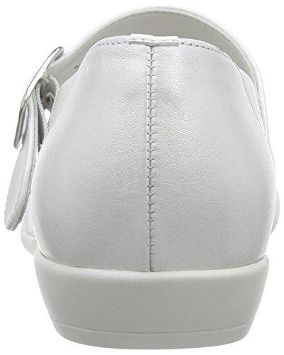 Däumling Mädchen Mia Geschlossene Ballerinas Weiß (Perlato weiss71)