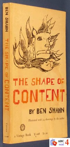 The shape of content (Charles Eliot Norton lectures, 1956;1957)