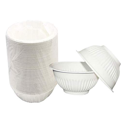 41V187phKzL - YC-Einweg-Brotdose Haushalt Mahlzeit Eindickung Abbaubare Maisstärke Grüne Schüssel, Einweg-Grill Bowl (Größe : 100 Pack)