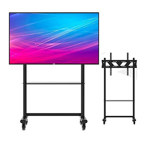 KBKG821 Möbel Flat Panel TV-Ständer und Entertainment-Konsole Rollen TV-Ständer 360ºOf Swivel für 55-90 Zoll LED-LCD-Plasma-Flachbildschirme -