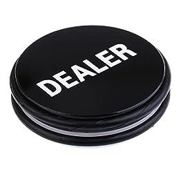 MagiDeal Double Side Nero / Bianco Big Dealer Button per Poker Card Casino Accessorio di Gioco 76 X 20mm