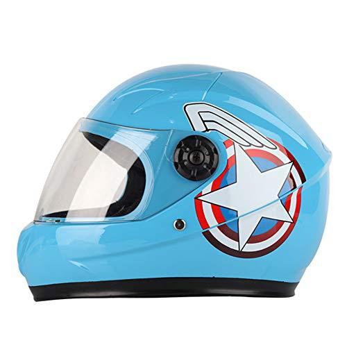 Casco de Moto Infantil-Blue