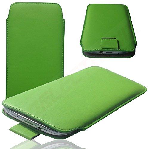 MX GRÜN Slim Cover Case Schutz Hülle Pull UP Etui Smartphone Tasche für Switel Sunny Turbo S53D
