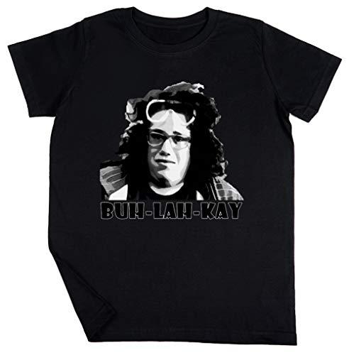 Blake Schwarz T-Shirt Jungen Mädchen Größe L | Unisex Kids Black T-Shirt Size L -