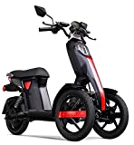 Lunex NEW iTango Innovative Design Three Wheels Electric Scooter Adult 3 wheel USB Bluetooth APP Tricycle up to 27mph BLACK