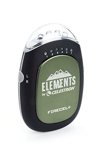 Celestron FireCel Plus - Calentador de Manos, Color Verde, Negro y Transparente