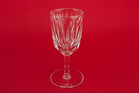 2 Cut Antique 65Ml Sherry PORT GLASSES Medium Crystal Edwardian Classical Stem Party Fluted Gift English Circa 1910