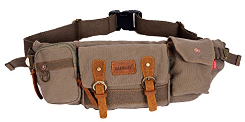 ERGEOB® Herren Brustbeutel Segeltuchtasche Männersporttasche kleine Hüfttasche multifunktionale Outdoor kleinen Schulranzen Armeegrün Armeegrün