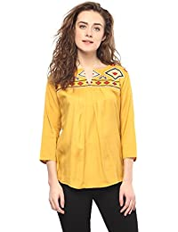 Mayra Women's Plain Regular Fit Top