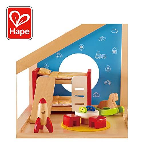 Hape E3456 - Kinderzimmer (Puppenhaus Etagenbett)
