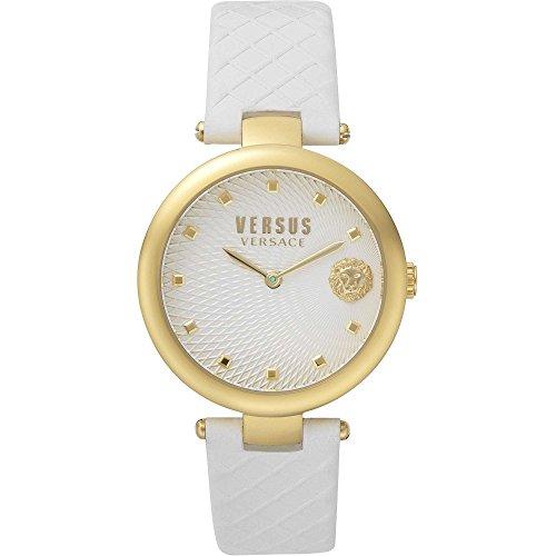Orologio Donna VERSUS Versace BUFFLE BAY VSP870218 Pelle Bianco Gold Dorato