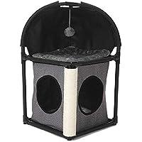 Yzibei Cómodo Gato trepador Árbol Torre Condominio Muebles Gatito Casa Hamaca con Poste de rasguño y Juguetes para Gatos Gatitos (Color : B)