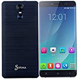 SORAKA Smartphone libre 6.0 pulgadas GSM 3G Android 5.1 Quad Core Dual SIM 5.0 MP(Negro)