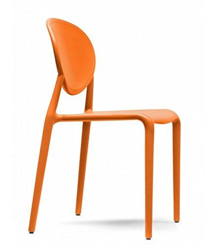 Scab Design Sedia in tecnopolimero Rinforzato Gio Made in Italy - Set da 6 - Arancio