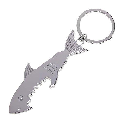 JINRU Shark Shaped Bottle Opener Keychain Shaped Zink-Legierung Silber Farbe Schlüsselanhänger Bier Flaschenöffner Einzigartige Kreative Geschenk (Set Von 2) - Flaschenöffner Cola Coca Schlüsselanhänger