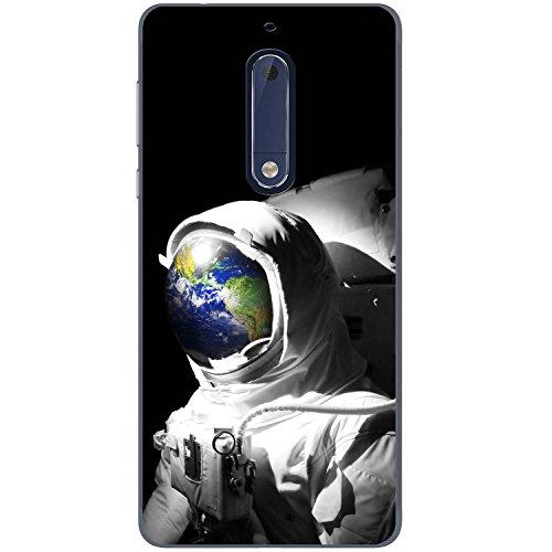 Astronautenanzug & Spiegelbild der Erde Hartschalenhülle Telefonhülle zum Aufstecken für Nokia 5