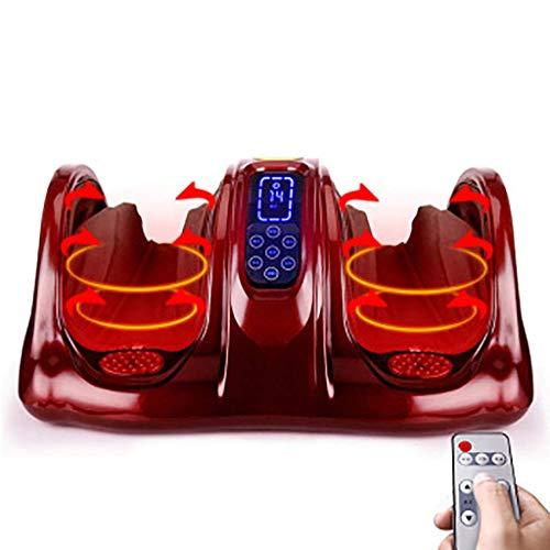 WJSWJ Fußmassagegerät Shiatsu-Massagegerät für müde Füße, Beine, Waden, Erhöht die Durchblutung Wärmetherapie Tiefkneten (Farbe: Weinrot) -