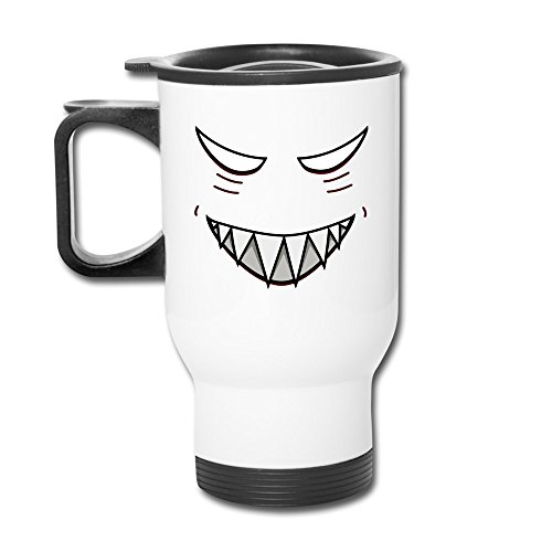 Mensuk Devil Smile Travel Mugs With Easy-Clean Lid White