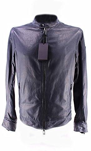 Men's Leather Jacket BELSTAFF 71020315 Gransden Reversible Blous Navy New