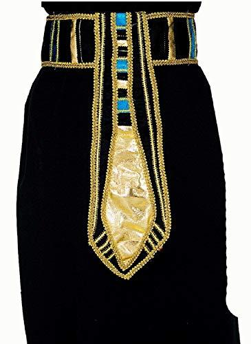 narrenkiste K80964690-A schwarz-türkis-Gold Damen Ägyptischer Gürtel Cleopatra Schmuck (Gottes Krieger Kostüm)