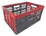 Profi - Klappbox TÜV zert. 45 L bis 50 kg anthrazit / rot Faltbox Transportkiste Kunststoff Box Kiste