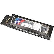 cogeek 3d metal Deporte///M frontal capucha rejilla de parrilla emblema de la insignia pegatinas estilo de coches Tornillos Accesorios para BMW M3M5x1x5X6E39E60