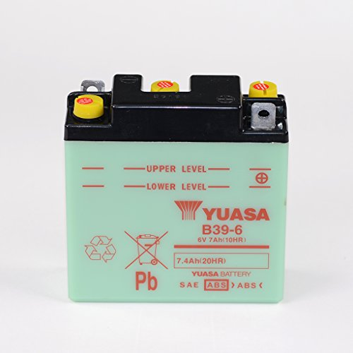 Batteria 6V 7Ah B39–6, umido Yuasa per Vespa Rally 200VSE1T   Vespa Sprint 150vlb1t