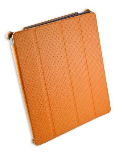 Syba Schutzhülle Unterstützung für iPad 2/3Made mit Haptik Kunstleder Checker Muster, orange (cl-acc62054) Orange Checker