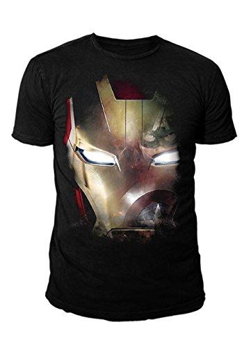 Man Herren T-Shirt - Mask (Schwarz) (S-XL) (S) (Schwarz Iron Man Anzug)