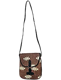 Shubhangi Women's Shoulder Sling Bag (Jaipuri Embroidered Handicraft Traditional Bags,Stylish Casuals Bag,leather...