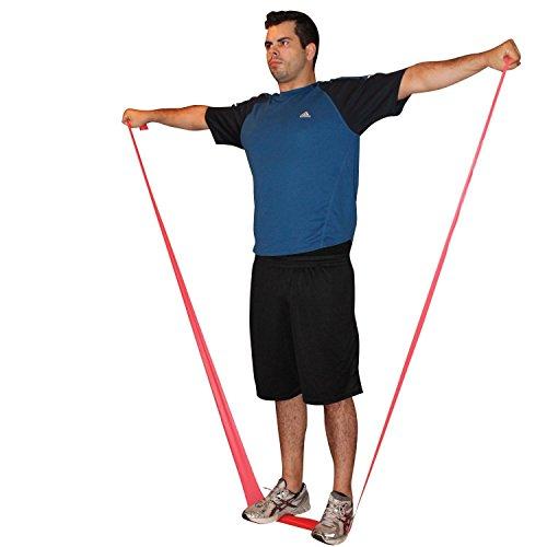 Fitness Bänder – 4-teiliges Set enthält 3 extra lange 1,5m Bänder und eine Türhalterung – Workout überall möglich: als Heimtrainer oder auf Reisen – zum Muskelaufbau – zum Abnehmen, Pilates, Yoga, Herztrainer – P90X – zur Therapie (1.5m Bänder)