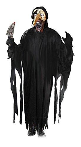 Kostüme Creeper Der (Venice Creeper der Schlächter von Venedig Luxus Halloween Horror Kostüm Komplett Set mit venezianischer Maske, Monster Kutte (unisize Erwachsene), schwarze Handschuhe und antiker Horror Dolch alles im Set)