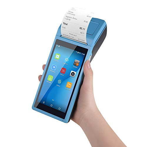 Aibecy Thermodrucker Handy Drucker All-in-One Smart POS Terminal Wireless Drucker Mobiler Drucker BT/WiFi/USB OTG / 3G-Kommunikation / 1D-Scanning/VIP Kartenkommunikation