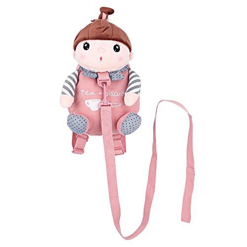 Sicherheitsgurt Rucksack, BELK [Reise Licht] 2 in 1 Tether & Stofftier Mini-Kleinkind-Tasche mit abnehmbarer Leine Ultra Lichtweight Infant Nursery Daypack, Hund Rot