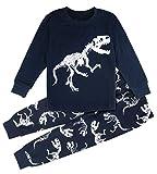 Mombebe Junge Schlafanzug Kinder Winter Dinosaurier Pyjama Set Langarm Nachtwäsche(Dinosaurier 2, 2 Jahre/110)