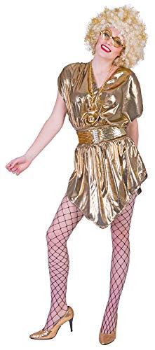 Funny Fashion Retro 80er Jahre Disco Queen Kostüm - Gr. 36/38