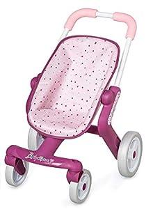 Smoby Baby Nurse 251203 - Cochecito de bebé, Color Rosa