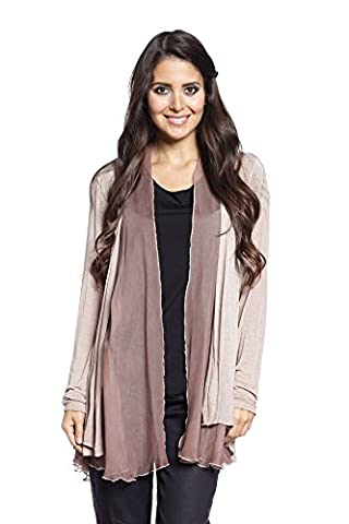 Abbino 2802 Blazer Jacket for Woman Lady - Made in Italy - 9 Colours - Womans Spring Summer Autumn Classic Long Sleeves Sale Short Casual Freetime Sexy Solid Stylish Outwear Silk - Pink - One Size