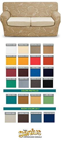 Genius 4d - biancaluna - copri cuscino 3 posti per cuscini da 160 a 220cm - colori tinta unita
