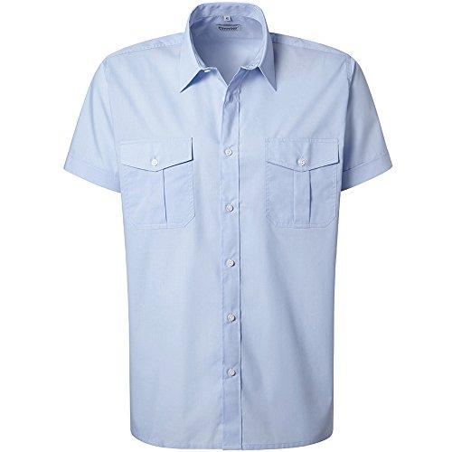 feuerwehrhemd Pionier 8123-42 Pilothemd Business Fashion 1/2 Arm, hellblau, Size 42