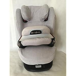 Sommerbezug Schonbezug für Cybex Pallas M und S + M- und S-Fix Frottee 100% Baumwolle hellgrau