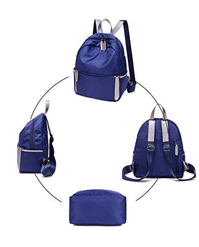CLOTHES-_ Borsa coreana del sacchetto di spalla del sacchetto di spalla di viaggio di svago e di scuola elementare degli uomini della scuola materna e femminile di Ultra-Light impermeabile dello zaino Blu Scuro