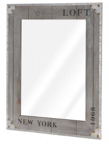 Quantio Nostalgischer Wandspiegel 'NEW YORK 1968' - Spiegel - Flurspiegel - Kosmetikspiegel -...