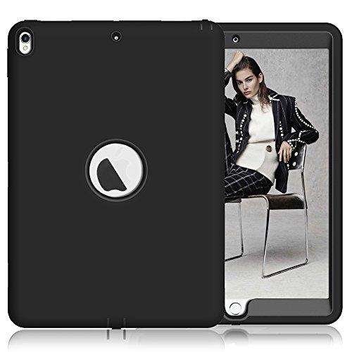 topbin Apple iPad Pro. 10.5Fall, Neue iPad Pro. 26,7cm 2017Fall, [3in 1] Slim Kratzfest Hartschale Schutzhülle Dual Layer bchiea Schutzhülle für iPad Pro. 26,7cm (2017), Schwarz (2 Dollar I Phone 6 Fällen)