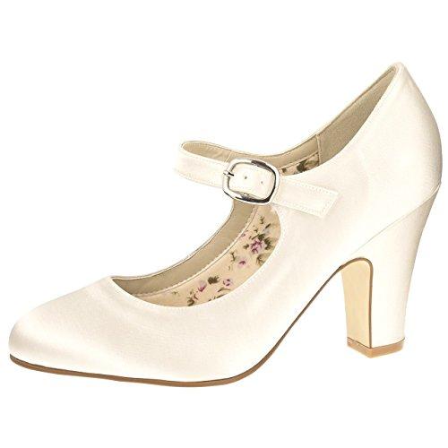 Rainbow Club Brautschuhe Madeline Ivory Satin (Bliss) - Schuhe Madeline