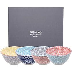 Tokyo Design Studio, Star Wave, 4 Schalen Set , 4-tlg., Ø 12 cm, Porzellan aus Japan