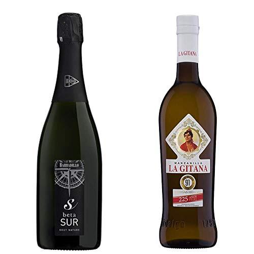 Beta Sur Y Manzanilla La Gitana - Vino De La Tierra De Cádiz Y D. O. Manzanilla De Sanlúcar De Barrameda - 2 Botellas De 750 Ml