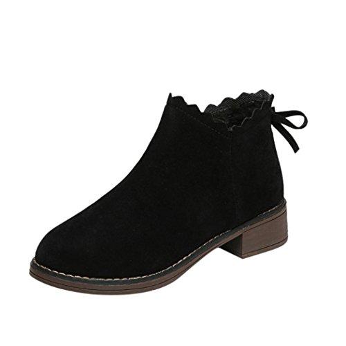 Zapatillas de Invierno Sala Para Mujer Zapatos Deportivos Plataforma Negro Por ESAILQ A