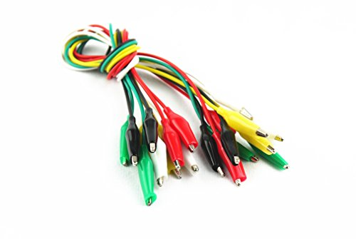 "Preisvergleich Produktbild Magic Show 20"" Electrical 10pcs Test Lead Double Ended Crocodile Alligator Jumper Probe Wire TO131"